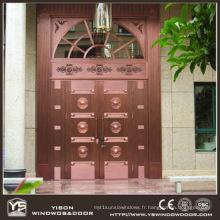 Woodwin Coppman New Design Handwork Porte de sécurité porte en cuivre