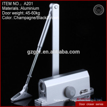 Aluminum alloy sand silver Medium square door closers hardware