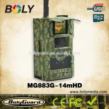Meistverkaufte wasserdichte Nachtsicht 3G Hinterkamera MG883G-14M mit gprs mms 14MP * 720P HD