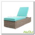 Audu Seattel Wicker Outdoor Sun Lounger