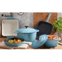 La mejor venta de hierro fundido colorido esmaltado utensilios de cocina