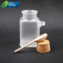ABS or PP Bath Salt Bottle with Wooden Cap and Spoon  plastic bottle