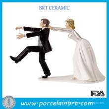 Amüsante doppelte keramische Hochzeits-Bevorzugung