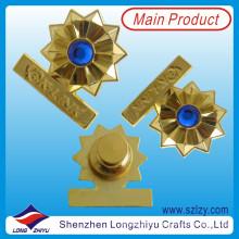 Elegante Pin de placa de solapa de recuerdo grabado en oro (LZY-10000244)