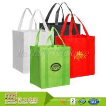 Fördernde umweltfreundliche wiederverwendbare nichtgewebte Lebensmittelgeschäft-Einkaufstaschen der hohen Beanspruchung
