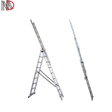 folding aluminum three parts extension ladder escada