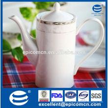 Venta al por mayor blanca del té de la porcelana