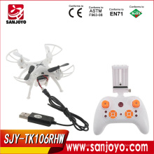 Hot 4CH 6 ejes Gyro Wifi Mini modo sin cabeza 3D Flips RC Quad Drone para TK106RHW