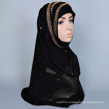 Модный горячий мусульманский шарф с чешским бриллиантом
