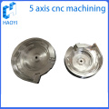 Round parts of 5 axis machining