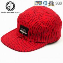 2016 schöne rote Baumwolle Snapback Camper Cap mit gewebten Label