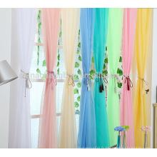 Vente en gros jolie rideau en couleur double doux