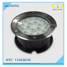 IP67 de acero inoxidable 18W LED enterrado luz enterrada