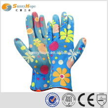 sunnyhope 13gauge chip nitirle coated palm safety gloves