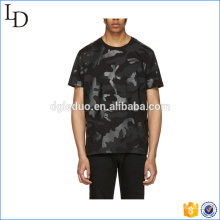 Camiseta militar de camuflaje manga corta estampada ejército O-cuello para hombre