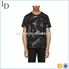 O-pescoço exército impresso manga curta camuflagem militar t-shirt para homens
