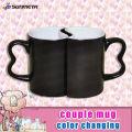 11oz sublimation blank coated couple magic mugs
