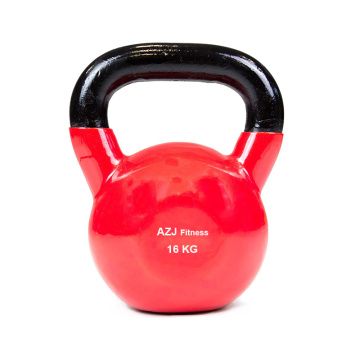 16KG Red Vinyl Coated Kettlebell