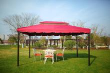 屋外パティオのテントを簡単組立