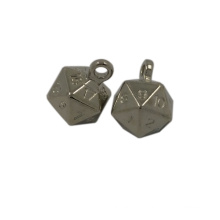 Étiquette accrochante en métal formée par boule irrégulière d'accessoire de vêtement