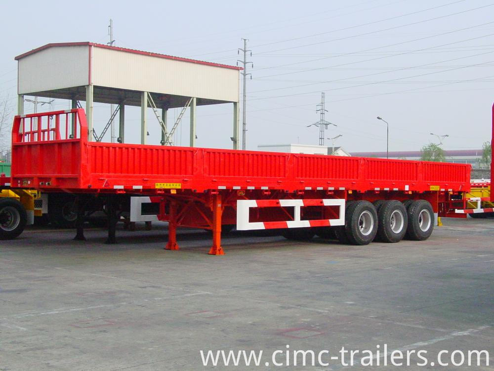 L 40 Tri Axle Side Bord Semi Trailer