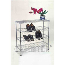 Cheap DIY Chrome Iron Corner Shoe Holder Rack (Cj-B1112)