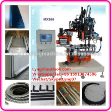 2 axes à grande vitesse CNC bande automatique machine à brosse / petite bande brosse machine de fabrication usine / plancher bande brosse machine
