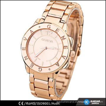 Relojes de señora de la manera de Ginebra de la tapa, reloj de lujo
