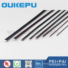 Degree220C polyester-imide / polyamide-imide enameled aluminum flat wire