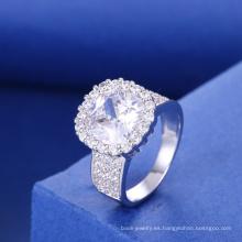 joyería de plata de nueva york rodio joyería anillo de compromiso de circón cúbico