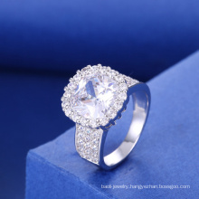 new york silver jewelry rhodium plating jewelry cubic zirconia engagement ring