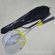 2015 kommen neuer heißer Verkauf Whollsale-Art- und Weiseeisen-Gelb und Weiß in schwarzem PVC-Beutel XL718 spezialisiertem Badminton-Schläger Soem an