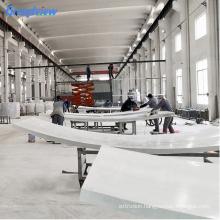 Custom thick 80mm 100mm curv acrylic swimming pool
