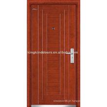 Porta blindada JKD-202 aço porta de madeira para porta de alta segurança
