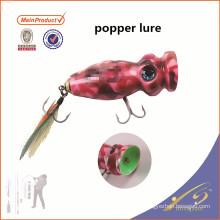 PPL003 85мм плавающей искусственные приманки деревянная болванка рыбалка Поппер приманки
