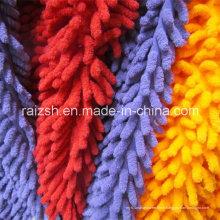 Polyester Microfibre Chenille Velvet Tissus pour Mop Water Absorbent Velvet