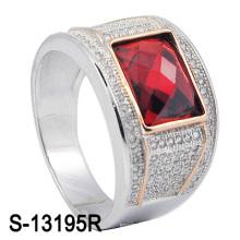 Фабрика самая последняя модель 925 серебряное кольцо человека с камнем CZ (S-13195R)