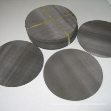 Plastic Recycling Black Wire Cloth metal filter disc / Black Mild Steel Woven Wire Mesh