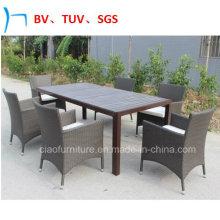 Садовая мебель Патио Обеденный комплект Открытый стул и стол из ротанга
