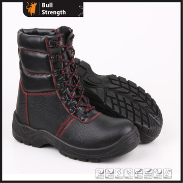 Black Leather Winter Warm Safety Boots Sn5185