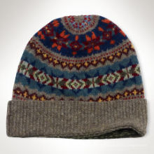 2016 Patrón de rayas de sombrero de bebé de tejer Jacquard a medida niños Crochet Knit Hat