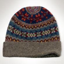 2016 Пользовательские цвета жаккардовый вязание ребенка Hat полосой шаблон Дети вязание крючком Hat