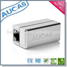 Adaptador modular / RJ45 Splitter / CAT5 CAT6 LAN Adaptador de conector Ethernet / 8P8C Plugue modular de rede