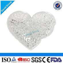 Heart Shaped Mini Hot Cold Pack With Clear Gel beads