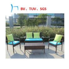 Table et chaise de loisirs de meubles de café de rotin de meubles de jardin (CF1014)