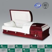 LUXES venda quente americano caixões baratos MDF folheado caixões