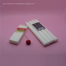 Romantische Hochzeits-dekorative Wachs-Weiß-Kerze
