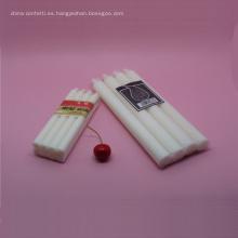 Boda romántica cera decorativa vela blanca