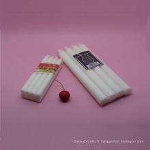 Bougie blanche de cire décorative de mariage romantique