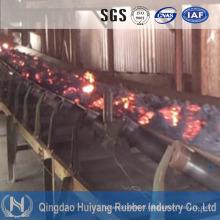 Bande de conveyeur de résistance à la chaleur à hautes températures pour la centrale à charbon